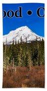 Mount Hood Oregon In Winter 01 Beach Sheet
