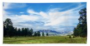 Mount Pagosa Meadow Beach Towel
