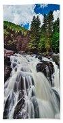 Mount Tremblant Waterfall Beach Towel