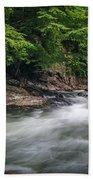 Mountain Stream In Summer #3 Beach Towel by Tom Claud