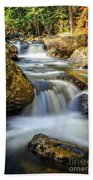 Mountain Stream Waterfall  Beach Towel