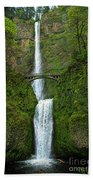 Multnomah Falls Beach Towel