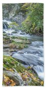 Nantahala Fall Flow Beach Towel