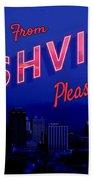 Nashville Postcard Beach Sheet