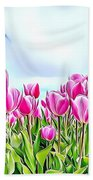 Naturalness And Flowers 48 Beach Towel