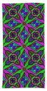 Neon Diamond Pattern Beach Towel