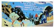 New York Aquarium, Coney Island, Brooklyn, New York Beach Towel