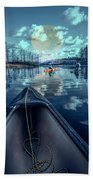 Night Blues Reflections  Beach Towel