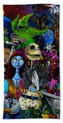 Nightmare Before Christmas Beach Towel
