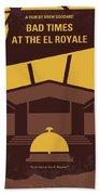 No1044 My Bad Times At The El Royale Minimal Movie Poster Beach Towel