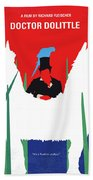 No1048 My Doctor Dolittle Minimal Movie Poster Beach Towel