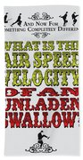 No14 My Silly Quote Poster Beach Sheet