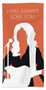 No273 My Dolly Parton Minimal Music Poster Beach Towel
