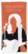 No273 My Dolly Parton Minimal Music Poster Beach Sheet