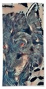 Not A Big Bad Wolf Beach Towel