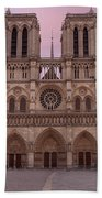 Notre Dame Cathedral Dawn Beach Towel by Jemmy Archer