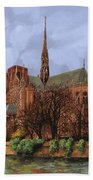 Notre-dame Beach Towel by Guido Borelli