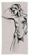 Nude Model Gesture Xxi Beach Towel