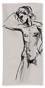 Nude Model Gesture Xxi Beach Sheet
