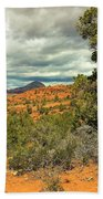 Oak Creek Baldwin Trail Blue Sky Clouds Red Rocks Scrub Vegetation Tree 0249 Beach Sheet