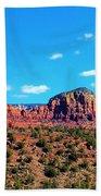 Oak Creek Jack's Canyon Blue Sky Clouds Red Rock 0228 3 Beach Sheet