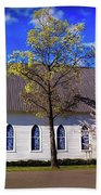 Oakland White Church Beach Towel