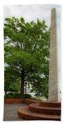 Obelisk In Tide Lock Park Beach Towel by Lora J Wilson