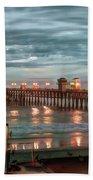 Oceanside Pier At Dusk Beach Towel