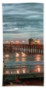 Oceanside Pier At Dusk Beach Sheet