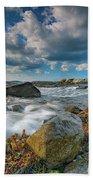 October Morning At Marshall Point Beach Towel