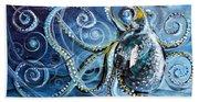 Octopus Of Nine Brains Beach Towel