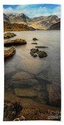 Ogwen Lake Snowdonia Beach Towel by Adrian Evans