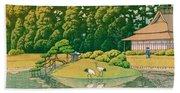 okayama kourakuen - Top Quality Image Edition Beach Towel