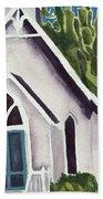 Old Church Copake Falls Beach Towel