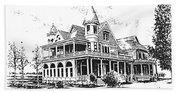 Old Daly Mansion Hamilton Montana Beach Sheet