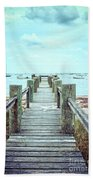 Old Dock Hyannis Port Cape Cod Ma Beach Towel