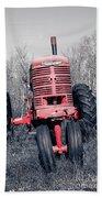Old Farmall Farm Tractor Color Separation Nh Beach Towel