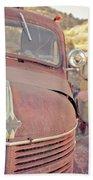 Old Friends Two Rusty Vintage Cars Jerome Arizona Beach Sheet