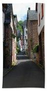 old historic street in Ediger Germany Beach Towel