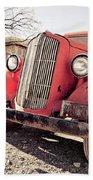 Old Red Truck Jerome Arizona Beach Towel
