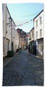 old town street in Hexham Beach Towel
