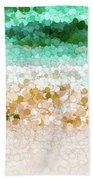 On The Beach Abstract Painting Beach Towel