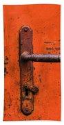 Orange Door Handle Beach Towel