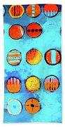 Orange Dots Beach Towel