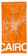 Orange Map Of Cairo Beach Towel
