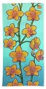 Orchid Azure Bliss Beach Towel by Lisa Lorenz