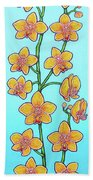 Orchid Blue Bliss Beach Towel by Lisa Lorenz
