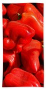 Organic Red Peppers Beach Towel