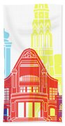 Osijek Skyline Pop Beach Towel