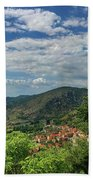 Over Roccassecca  Beach Towel